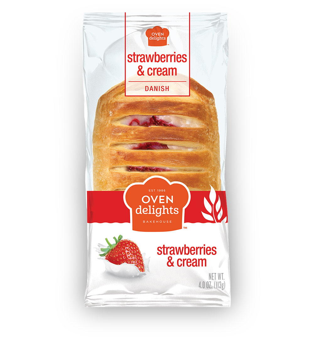 Strawberries and Cream Danish from Oven Delights