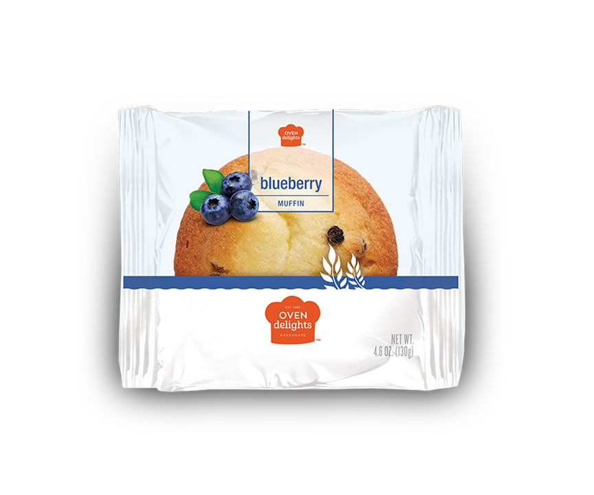 Blueberry muffin in package